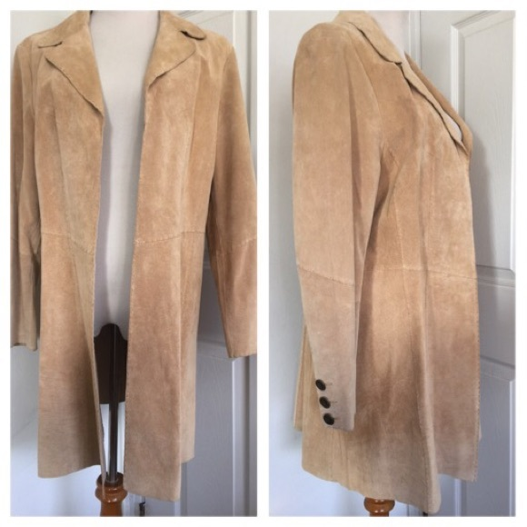 cd8b916c33 New Coldwater Creek Suede Duster Coat